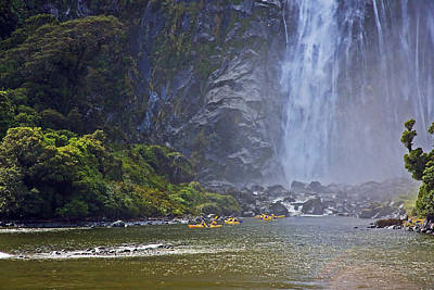 Photograph - Kayaking On Milford Sound by Stuart Litoff