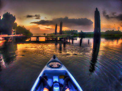 Digital Art - Kayaking On The Bon Secour by Michael Thomas