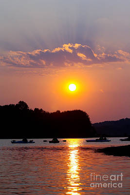 Photograph - Kayaking Sunset by Deb Kline