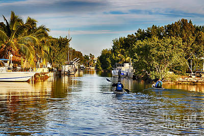 Kayaking The Canals Art Print
