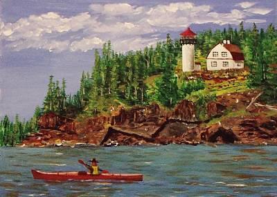 Kayaking The Coast Art Print