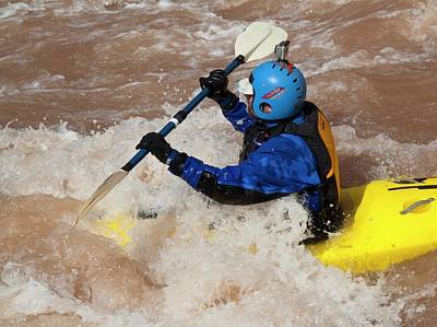 Kayaker Photograph - Kayaking The Colorado by Jim West
