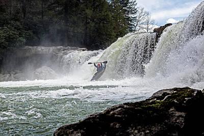 Kayaking Wonder Falls Art Print