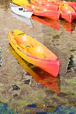 Photograph - Kayaks by Alexey Stiop