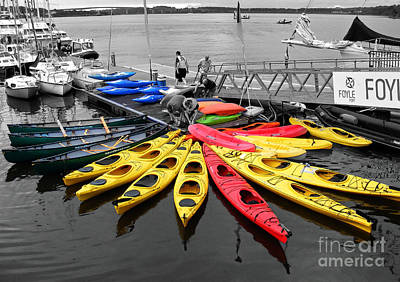 Photograph - Kayaks And Canoes by Nina Ficur Feenan