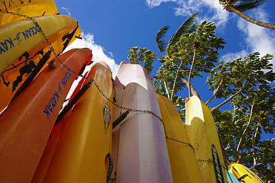 Photograph - Kayaks Await by Marilyn Wilson