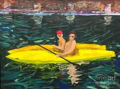 Art Print featuring the painting Kayaks by Donald J Ryker III