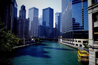 Frank J Casella Royalty-Free and Rights-Managed Images - Kayaks on the Chicago River by Frank J Casella