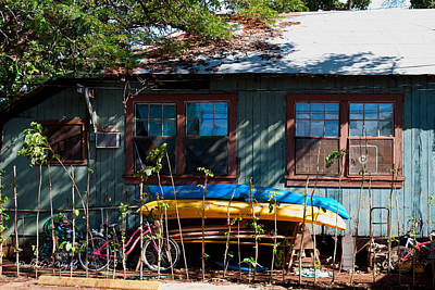 Photograph - Kayaks Surfboards And Bikes - The Good Life by Paulette B Wright