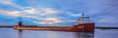 Sault Ste Marie Photograph - Kaye E. Barker Downbound At Mission Point by Gales Of November