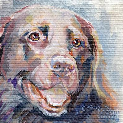 Chocolate Lab Painting - Kayla by Kimberly Santini