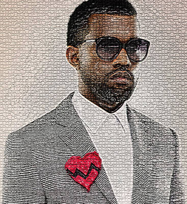 Digital Art - Kanye West by Marvin Blaine