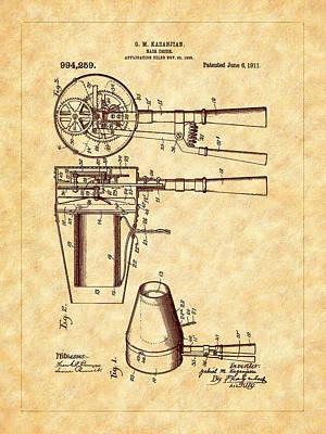 Photograph - Kazanjian 1911 Hair Dryer Patent Art by Barry Jones