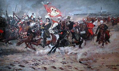 Painting - Kazimierz Pulaski At Czestochowa During Bar Confederation by Celestial Images