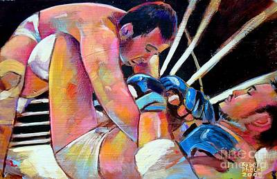 Art Print featuring the painting Kazushi Sakuraba 1 by Robert Phelps