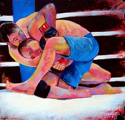 Art Print featuring the painting Kazushi Sakuraba by Robert Phelps