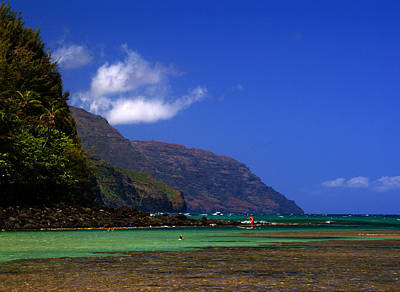 Photograph - Ke E Beach Kauai Summer by Robert Lozen