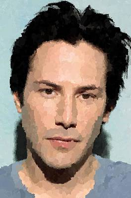 Keanu Reeves Portrait Art Print