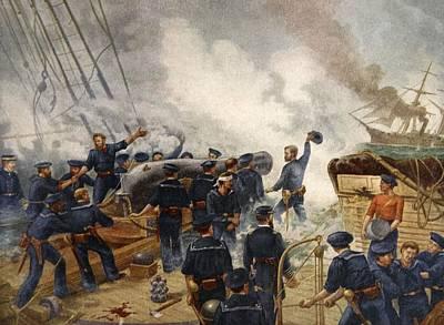 Kearsage Sinking The Alabama, June 19th Art Print