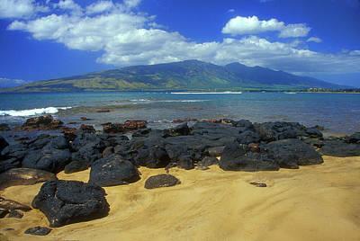 Photograph - Keawakupu Beach Lava Maui Hawaii by John Burk