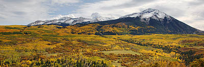 Photograph - Kebler Pass View In Autumn by Daniel Woodrum