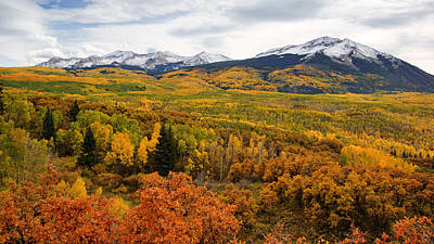Photograph - Kebler Pass View In Autumn No.2 by Daniel Woodrum
