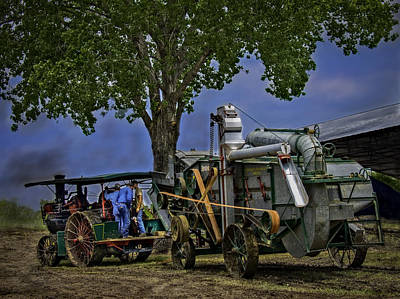 Keck Photograph - Keck Gonnerman And Advance Rumley Thresher by F Leblanc
