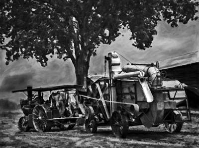 Keck Photograph - Keck Gonnerman And Advance Rumley Thresher V3 by F Leblanc