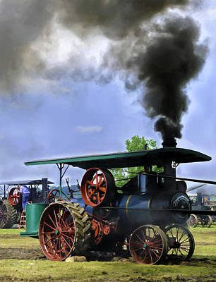 Keck Photograph - Keck Gonnerman Steam Traction Engine In The Belt by F Leblanc