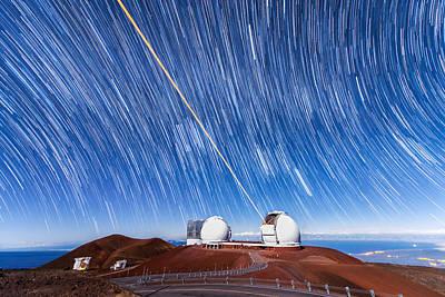Photograph - Keck Laser Piercing The Heavens 2 by Jason Chu