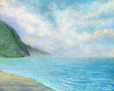 Kauai Painting - Ke'e Tranquility by Kenneth Grzesik