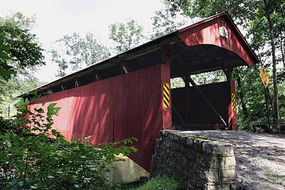 Photograph - Keefer Station Covered Bridge by Gene Walls
