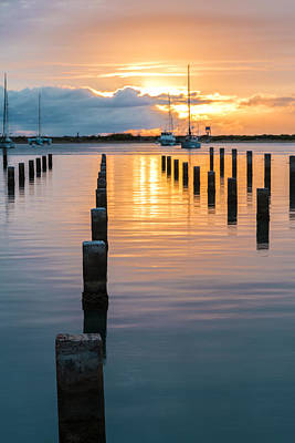 Photograph - Keehi Harbor Sunset 1 by Leigh Anne Meeks