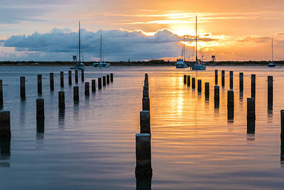 Photograph - Keehi Harbor Sunset 2 by Leigh Anne Meeks