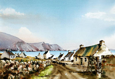 Mayo Painting - Keel Laneway In Achill by Val Byrne
