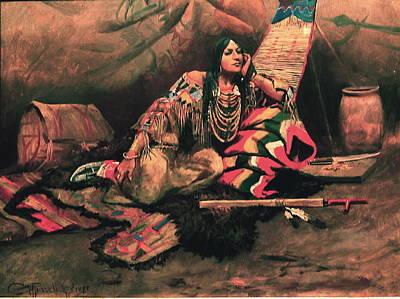 Indian Princess Digital Art - Keemo by Charles Russell