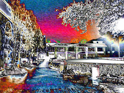 Keeneland In Winter Color Art Print by Christopher Hignite