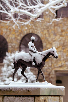 Keeneland Photograph - Keeneland In Winter by Sid Webb
