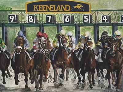 Horse Racing Painting - Keeneland by Kim Selig