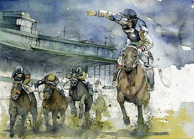 Horse Racing Painting - Keeneland  by Michael Pattison