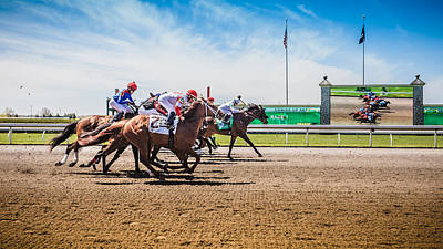 Keeneland Photograph - Keeneland Racing by Keith Allen