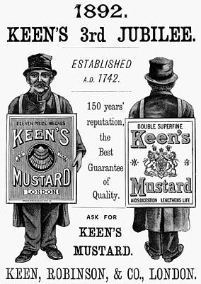 Sandwich Painting - Keen's Mustard Ad, 1892 by Granger