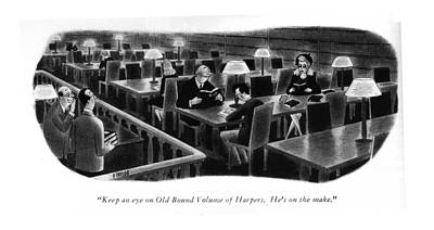 Keep An Eye On Old Bound Volume Of Harpers. He's Art Print by Richard Taylor