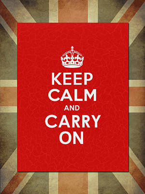 Keep Calm And Carry On Photograph - Keep Calm And Carry On by Mark Rogan