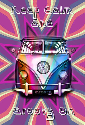 Keep Calm And Groovy On Art Print by Greg Sharpe