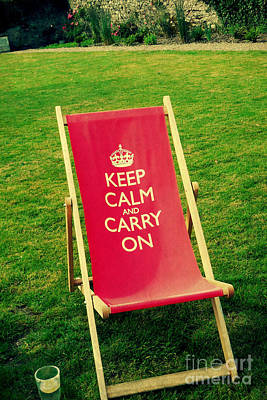 Photograph - Keep Calm And Have A Seat by Valerie Reeves