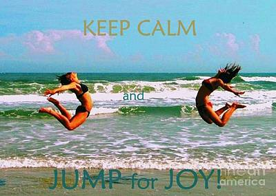 Painting - Keep Calm And Jump For Joy by Shelia Kempf