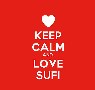 Night Lamp Painting - Keep Calm And Love Sufi by Celestial Images