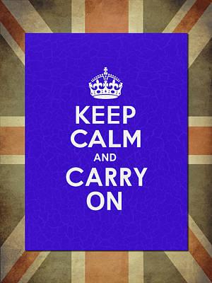 Keep Calm Blue Art Print