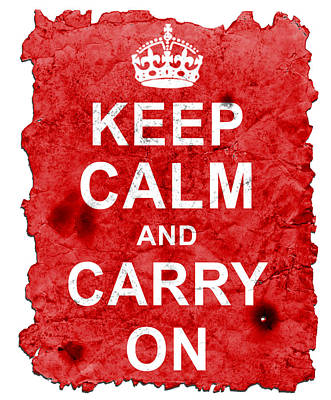 Digital Art - Keep Calm Poster Torn by Nik Helbig